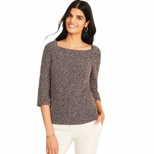 Ann Taylor Boucle Puff Sleeve Square Neck …